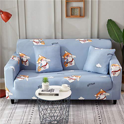 SHAFAJNC Jacquard Sofa Abdeckung,1 Stück Stretch Sofa Couch Bezüge - Spandex Printed Loveseat Couch Schonbezug Sessel Sesselbezug Protector One-AV-2 Sitzer 145-185cm Av-schutz