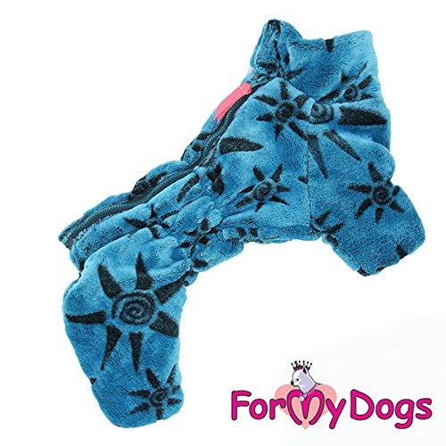 For my Dogs Hunde Winteranzug Anzug Overall Rüde weicher Plüsch wärmeisolierend, Farbe:blau, Größe:20 (Größe 20 Overalls)