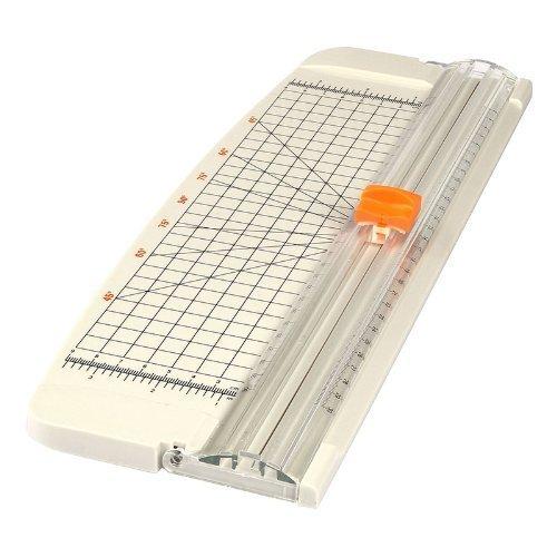 LAGUTE A4 Papierschneider, Plastik, Weiß, 44.4 x 14.8 x 4 cm