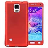 COOVY Custodia per Samsung Galaxy Note 4 SM-N910 / SM-N910F / SM-N9100 Protezione a 360 Gradi, Involucro Ultrasottile e Leggero Dotato di Protezione per Lo Schermo | Colore Rosso
