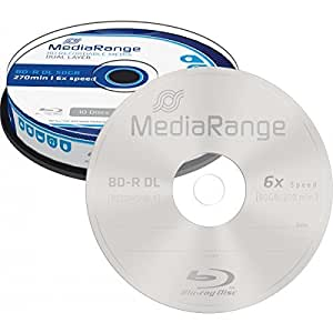 MediaRange MR507 BD-R DL Blu-ray Disc 6x 50GByte (10 Stück)