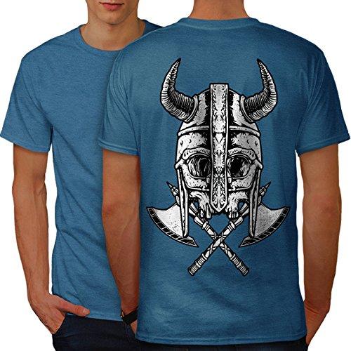 wellcoda Krieger Tot AXT Schädel Männer 4XL Ringer T-Shirt