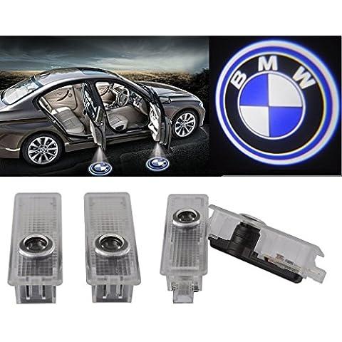 THG Paquete de 4 logotipo de BMW puerta de coche Bienvenido luces sombra del fantasma del proyector Lámparas de