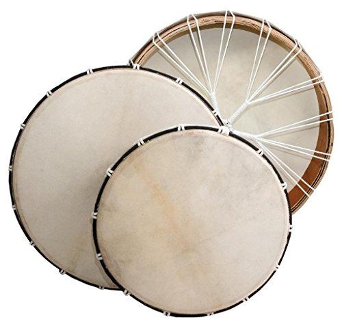 Rahmentrommel Ø 40 cm Mahagoni Sperrholz Rund Ziegenfell Spannbar Ritual Drum