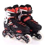 Giow Kinder-Skates, Inline-Skates Verstellbar Pu-Flash-Rad Für Damen Und Herren,Red,28to31yards