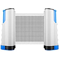 AngLink Retractable Table Tennis Net, Ping Pong Net Adjustable Portable Ping Pong Net Post for Any Travel Indoor Outdoor Table Sports