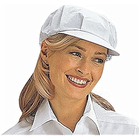 Gorra de visera de cocina (blanco)