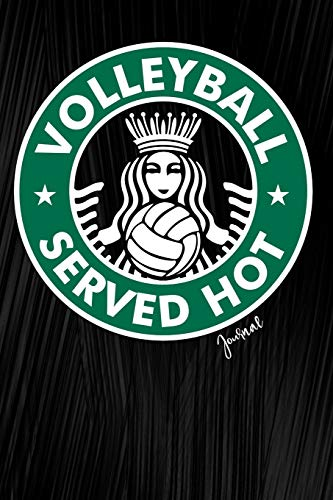 Volleyball Served Hot Journal: Sports Notebook, Diary Or Sketchbook For Girls With Dot Grid Paper por Jolly Pockets