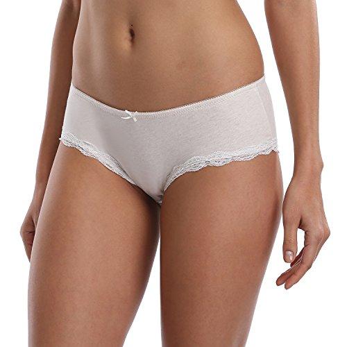 CharmLeaks Damen Slips Ultra Soft Baumwolle Unterhosen 4er Pack Lila/Grün/Beige/Rosa