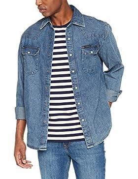 Calvin Klein Archive Western-Soho Blue, Camicia Uomo