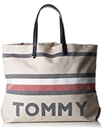 Tommy Hilfiger Th Summer Corporate Tote - Borse Donna, Nero (Corporate Mix), 17x49x38 cm (B x H x T)