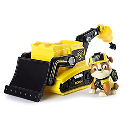 Paw Patrol 6037971 Rubble's Mission Bulldozer - Vehículo de canina de Spin Master Toys Ltd