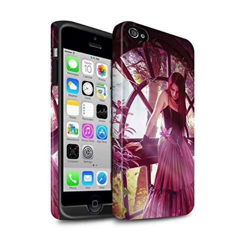Officiel Elena Dudina Coque / Matte Robuste Antichoc Etui pour Apple iPhone 4/4S / Feu Blanc Design / Un avec la Nature Collection Couleurs d'Automne