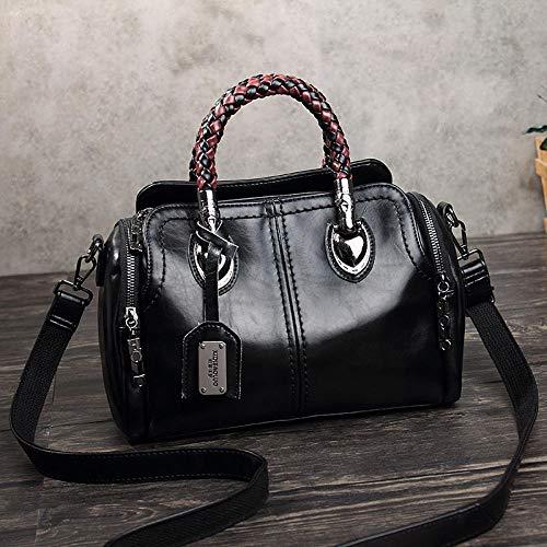 SUCCESS Frühling Leder Handtasche Damen Handtasche Designer Tasche weiblich Umhängetasche weiblich - schwarz -