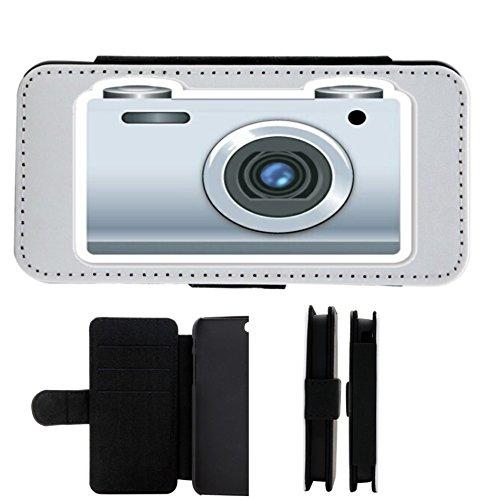 """Preisvergleich Produktbild Leder Flip Case Samsung Galaxy S5 """"Retro Fotoaperat Emoji"""", der wohl schönste Smartphone Schutz aller Zeiten."""