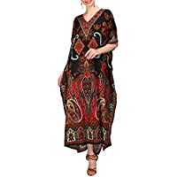 Miss Lavish London mujeres caftán de Londres túnica kimono libre tamaño largo vestido de fiesta para loungewear vacaciones ropa de dormir playa todos los días cubrir vestidos #102