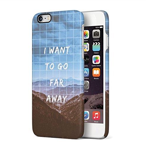 Wanderlust Endless Road Apple iPhone 6 PLUS / iPhone 6S PLUS SnapOn Hard Plastic Phone Protective Custodia Case Cover Go Far Away