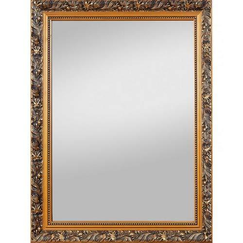 Spiegelprofi H0025570 Holzrahmenspiegel Pius, 55 x 70 cm, Gold