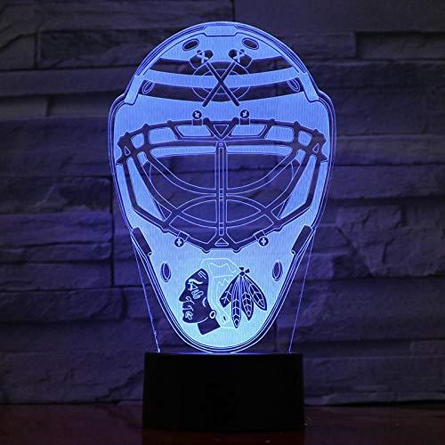 3D IllusionLampe Leichtathletik-Rugby Nachtlicht USB 7 Farben ändern LED Dekor Kinder Geschenk XIAOMAIBU-Keine Fernbedienung