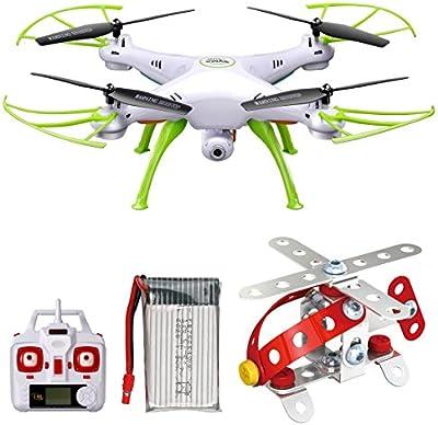 Syma X5HW 2,4 Frecuencia 6-Axis Gyro FPV Drone cámara de HD RC Quadcopter Drone incluye una función efectiva de mantenimiento de altitud para volar muy fácil para los principiantes (Color: Blanco)