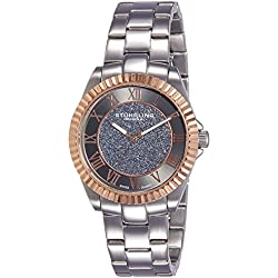 Stuhrling Original Shimmer Women's Quartz Watch with Grey Dial Analogue Display and Silver Stainless Steel Bracelet 743.04