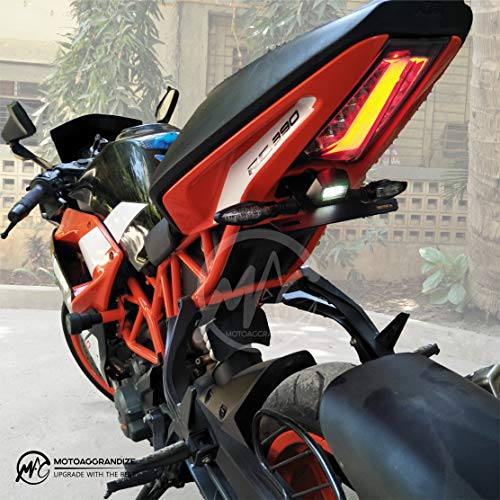 MOTOAGGRANDIZE Compact Tail Tidy/Fender Eliminator for KTM RC 125/200/ 390 | Color: Matte Black (Compatible with Small Number Plates)