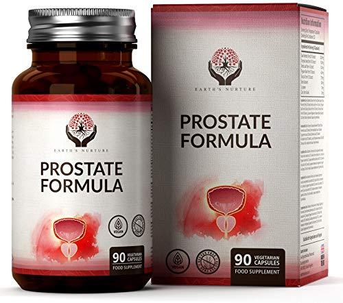Earths Nurture Integratore per la Prostata   Serenoa Repens (Saw Palmetto), Pygeum e zinco   Supporta la salute maschile   90 capsule vegetariane   Senza additivi - Senza OGM