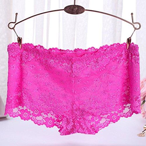 FEITONG Frauen Spitze Schriftsatz Schlüpfer Zapfen Wäsche Unterwäsche Damen Strings Tangas Heißes rosa