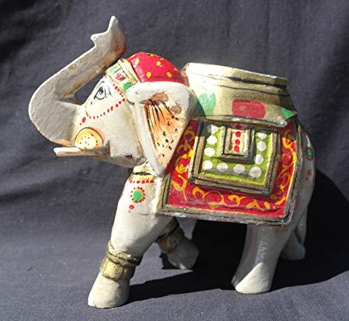 Adorno decorativo con forma de elefante