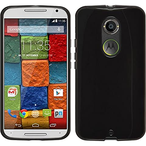 Coque en Silicone pour Motorola Moto X 2014 2. Generation - transparent noir - Cover PhoneNatic Cubierta