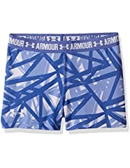 Under Armour Printed Armour Shorty Shorts, Girls, Morado (Lavender Ice), YXL