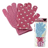 BRAND NEW PINK SCRUB GLOVES - USEFUL IN REMOVING DIRT AND DEAD SKIN - IDEAL USE FOR BATH AND SHOWER - 1 PAIR - USE WET W