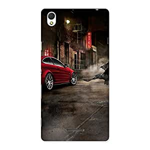 Cute Red Car Impact Multicolor Back Case Cover for Sony Xperia T3