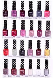 ENJOY COLOR Nail Polish Set - Nail Lacquer 6 Colors, Popular Nail Art Colors Nail Lacquer Kit 6 Pieces x 12 ML
