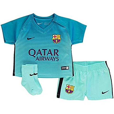 Nike Fcb I Nk Dry Kit 3 - Camiseta Línea F.C. Barcelona para niño de 18-24 meses, color verde