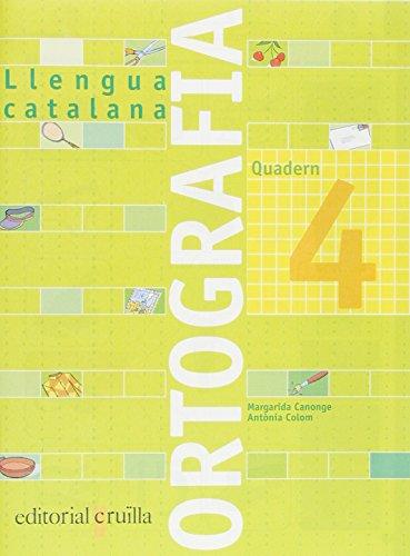 Quadern ortografia 4. Llengua catalana - 9788466110914