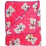 My Little Champ Super Soft Baby Pink Wrapper Cum Blanket From 0-12 Months Baby (100cmX80cm)
