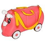 TecTake Maleta de viaje con ruedas para niños coche infantil caja de juguettes rosa