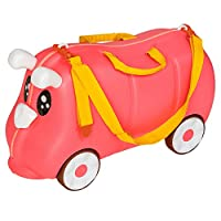 Questa valigia per bambini, bella e robusta, è l'ideale compagna di viaggio per i vostri figli. Grazie alle rotelle, la valigia è ideale per il trasporto o per sedersi. Può essere utilizzata per un breve soggiorno o per un volo, ma può essere...
