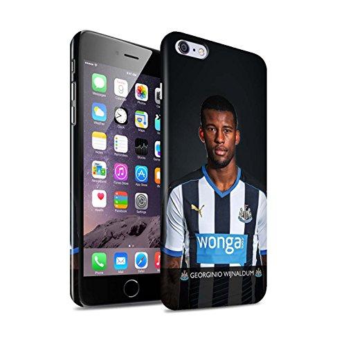 Offiziell Newcastle United FC Hülle / Glanz Snap-On Case für Apple iPhone 6S+/Plus / Pack 25pcs Muster / NUFC Fussballspieler 15/16 Kollektion Wijnaldum