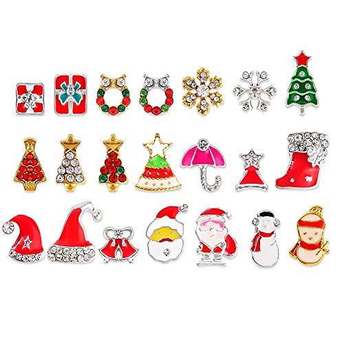 gierung Nagelscheibe Nagel 3D Strass Kristall Nail Art Scheibe Weihnachtsschmuck Nail Supplies Schmuck ()
