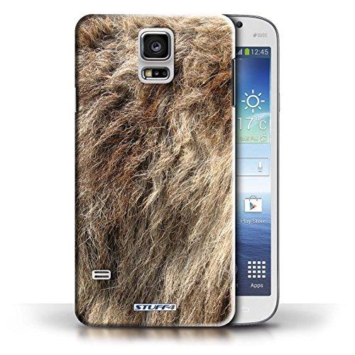 Coque en plastique pour Samsung Galaxy S5/SV Collection Motif Fourrure Animale - Zèbre Loup