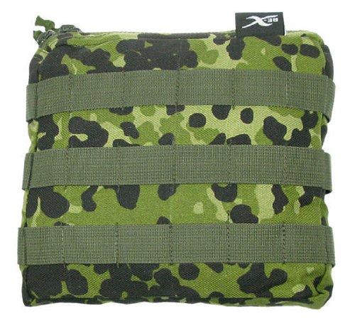 BE-X Stapelbare Tasche -Shingle gross- mit MOLLE, für MOLLE - dänisch tarn