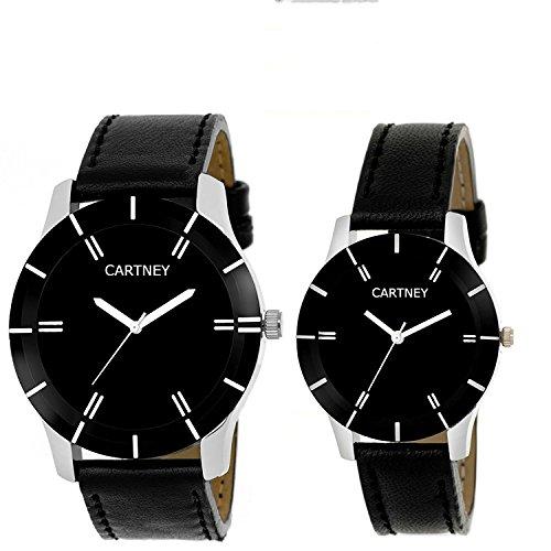 CARTNEY Analog Black Dial Leather Strap Wrist Watch For Men & Women - MW1