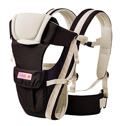 drasawee Vorder- und Rückseite Multifunktional 3D atmungsaktiv Netz Baumwolle Vier Jahreszeiten Infant Babyschalen Tasche Sling khaki