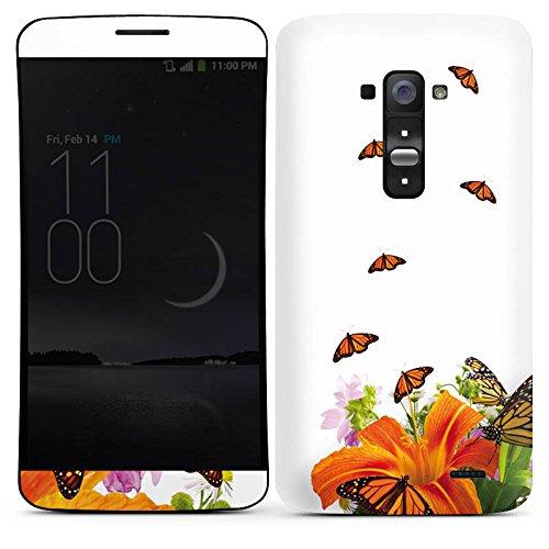 LG G Flex Case Skin Sticker aus Vinyl-Folie Aufkleber Schmetterlinge Blume Lilie (Flex-lilie)