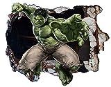 Poster Marvel The Hulk Crack Sticker mural Image Art Mural Version 2Taille 1000mm x 600mm (L)