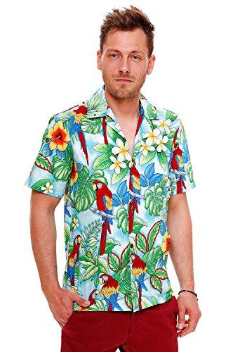 PLA-Original-Camisa-Hawaiana-New-Parrot-turquesa-4XL