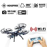 LAMASTON X5SW-1 WIFI HD camera RC quadcopter FPV real time transmission drone (nero)