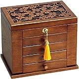 caja de la joyería vintage/calidad de la madera sólida y joyero grande/Europeo